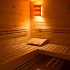 Sauna mit 3 Bänken